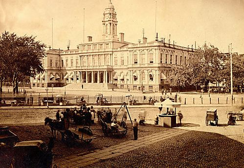 New York City Hall 1840's