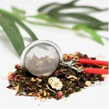 Red Handled Snap Tea Ball