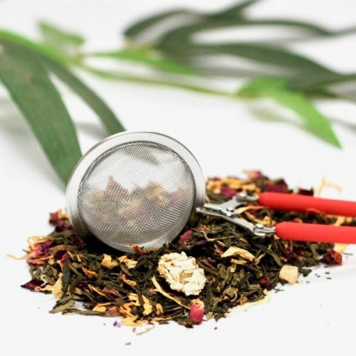 Red Handled Snap Tea Ball
