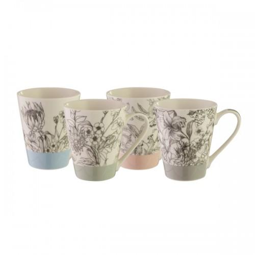 Floral 400ml Mug Set