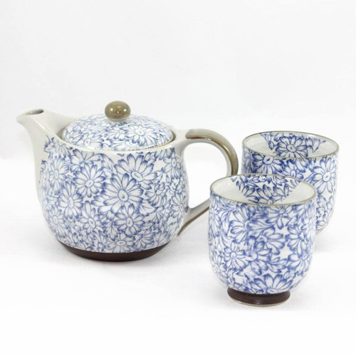 Blue Sunflower Tea Set